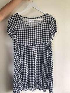 Gingham Print American Apparel Babydoll Dress