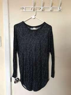 Aritzia Wilfred Open Back Longsleeve Top / Tunic