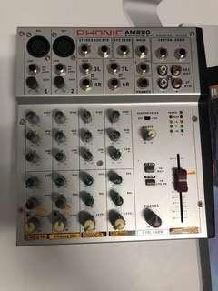 Phonic am220 compact mixer