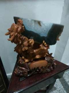 Very old and nice antique agate and stand cheap