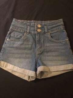 Cotton On Denim High Rise Shorts