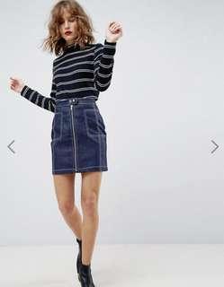 ASOS denim mini skirt size S