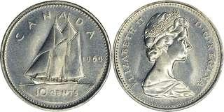 CANADA-1989-10Cents