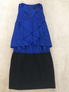 Wayne cooper size 10 blue and black dress