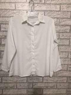 Kemeja putih bersih ld 106cm