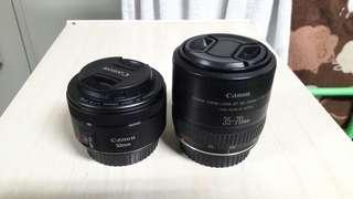 Canon lens 50mm/canon lens 35-70mm 2500nt/1 pc