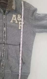 A&F Abercrombie and Fitch mens distressed style winter coat