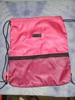 Pink knapsack