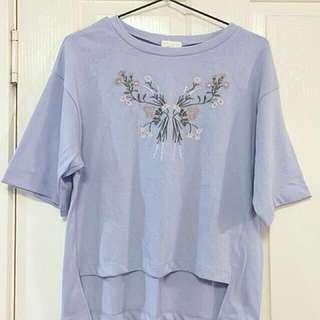 DISCOUNTED Floral embroidered shirt