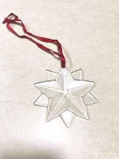 Tiffany & Co Xmas optic crystal glass Star ⭐️ deco