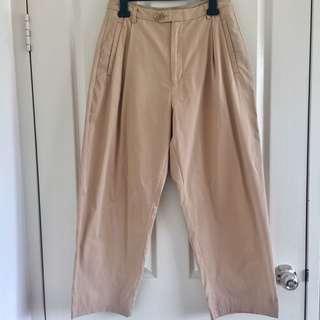 Beige crop pants