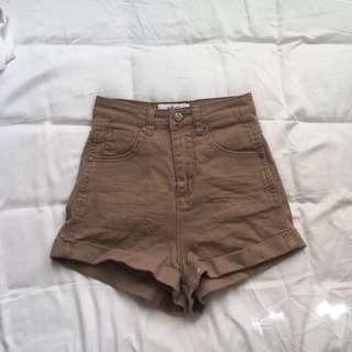 Ava & Ever High Waist Tan/Camel Shorts