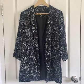 Print blazer jacket