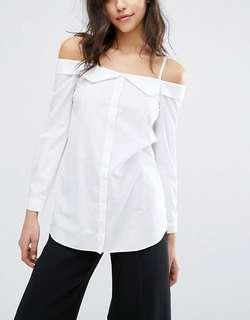 Miss Selfridge Longline Shirt