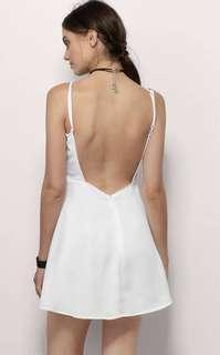Tobi white backless dress. Size m