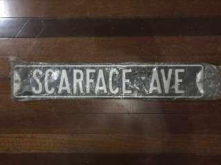 Scarface Street Sign