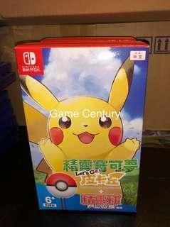 全新 Switch Pokemon Let's Go 比卡超連精靈球 中英日版