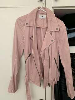 Baby Pink JAG Biker Jacket