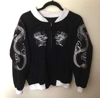 Japanese Sukajan Inspired Bomber Jacket