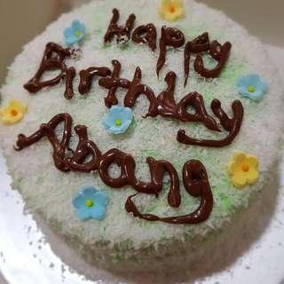 Happy Birthday Ondeh Cake💚