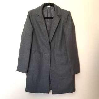 Grey Long Coat Blazer