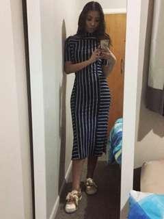 Bodycon Dress in Stripes