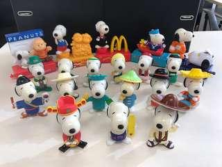 Snoopy mcdonald 珍藏絕版 公仔模型