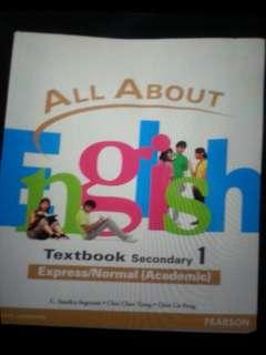 Brand new all about English textbook for Secondary 1