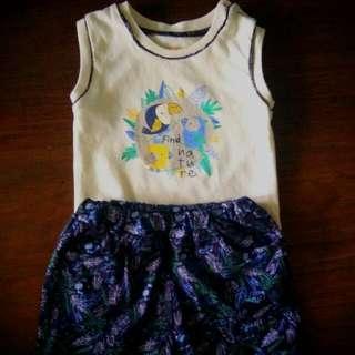 Shirt & Pants set with FREE bib