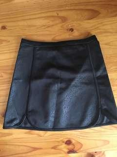Black high waist mini skirt