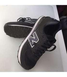 Black White New Balance Sneakers