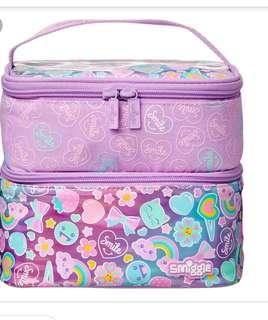 Smiggle lunch box double square compartment purple rm59 NEW