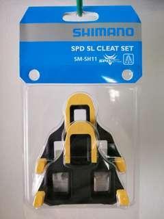 Shimano SPD SL Cleats Yellow Set
