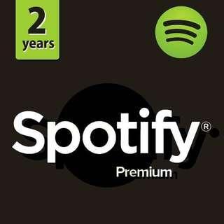 2 Years Spotify Premium
