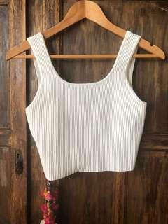 Sheike Starlet Ribbed Knit Low Back Crop Singlet
