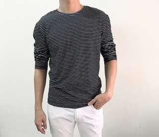 H&M Stripes Long Sleeves Top, Size M