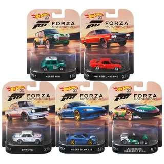 2018 Forza Motorsport Series - Complete set of five cars - Last set - W