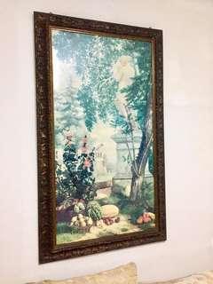 Hugh Oil Painting- Panneau Fruites Jardin