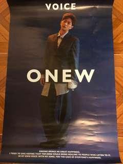 Shinee - Onew Voice - super big poster 61*92cm