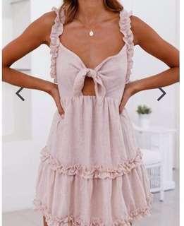 Pink tie knot summer dress
