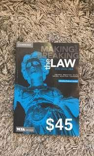 Unit 3/4 making and breaking the law legal studies textbook