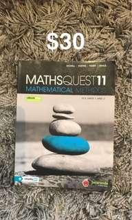 Maths methods unit 1/2 textbook