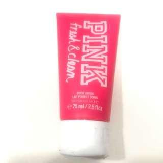 Victoria's Secret PINK fresh and clean body lotion (75ml)