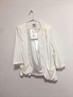 Temt white/cream blazer jacket