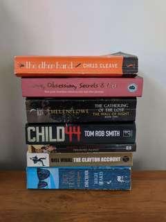 Pake 6 buku novel english