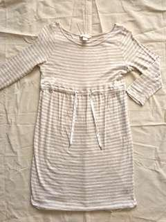 H&M Beige Striped Dress