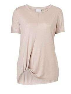 Witchery knot tee- champagne