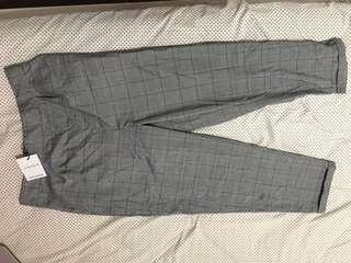 Factories woven check pant