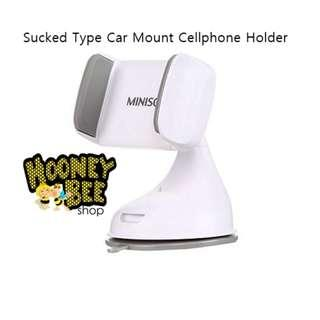 Miniso - Cellphone Holder Sucked Type Car Mount Tempat HP Mobil