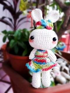 Boneka Rajut Kelinci - Rabbit Doll - Crochet  - Amigurumi - Keychain - Boneka Lucu